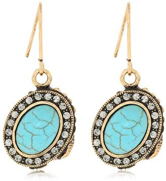 Alcozer & J Oval Pendant Earrings