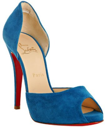 Christian Louboutin royal blue suede 'Madame Claude' d'orsay pumps