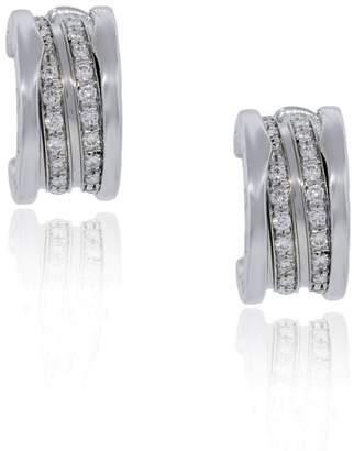 Bulgari Bvlgari B.Zero1 18K White Gold Pave Diamond Earrings OR851274 L