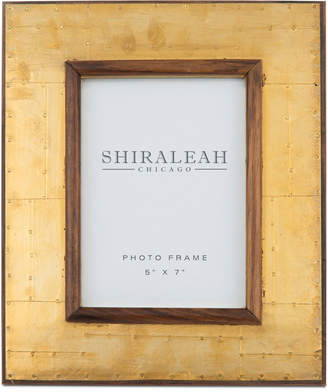 "Shiraleah America 5"" x 7"" Wood & Brass Picture Frame"