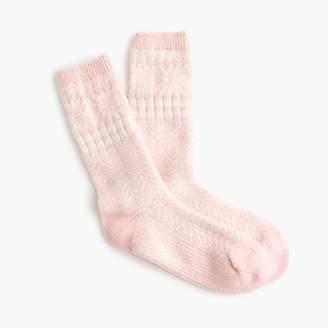 J.Crew Trouser socks in snowflake Fair Isle