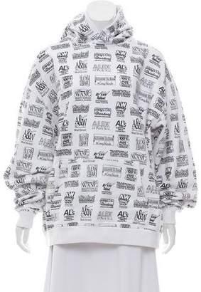 Alexander Wang Graphic Print Hooded Sweatshirt w/ Tags