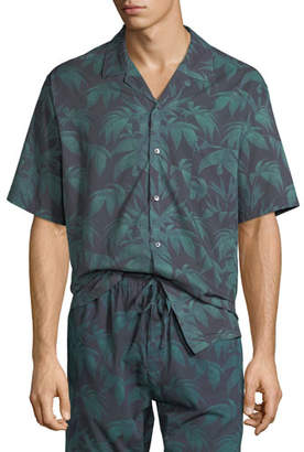 Desmond & Dempsey Men's Byron Cuban Short-Sleeve Shirt