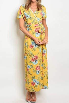 Compendium boutique Yellow Floral Maxi