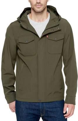 Levi's Levis Big & Tall Arctic Cloth Hooded Rain Jacket