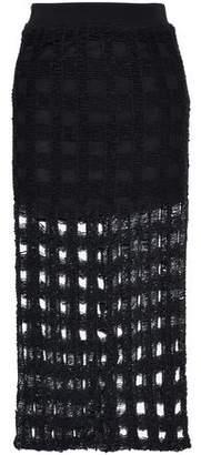 IRO Open-Knit Cotton-Blend Midi Skirt