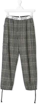 Duo checked cargo trousers