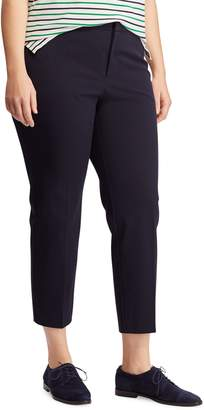 Lauren Ralph Lauren Plus Mid-Rise Twill Cotton-Blend Skinny Pants