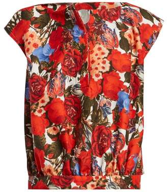 Marni Floral Print Top - Womens - Red Multi