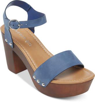 Madden-Girl Lift Wooden Platform Sandals