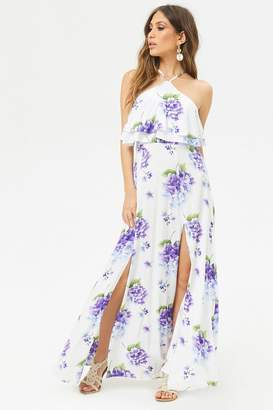 Forever 21 Floral Flounce Maxi Dress