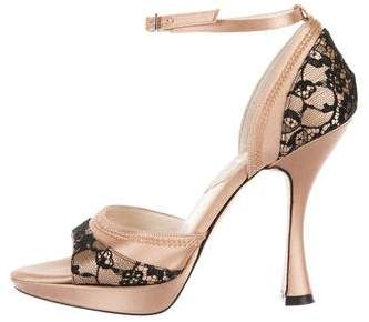 Christian Dior Satin Lace Sandals