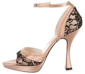 Christian Dior Satin Lace Sandals