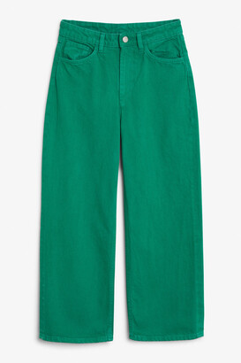 Monki Mozik green jeans
