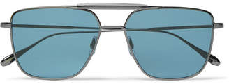 Garrett Leight California Optical - Convoy 56 Aviator-style Gunmetal-tone Sunglasses - Gunmetal
