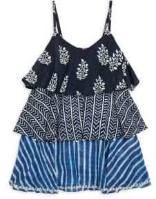 Hemant & Nandita Little Girl's& Girl's Frill Dress