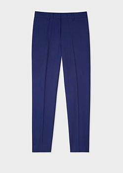 Paul Smith A Suit To Travel In - Women's Indigo Slim-Fit Wool Trousers
