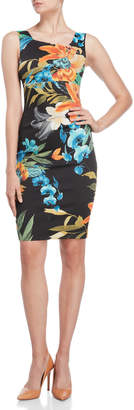 Karen Millen Black Floral Sheath Dress