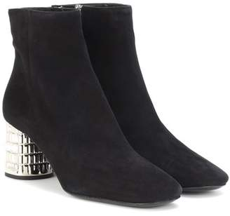 Prada Crystal-embellished ankle boots