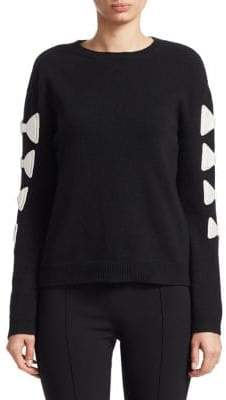 Valentino Contrast Bow Sweater