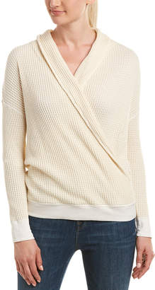 Three Dots Fireside Thermal Shawl Collar Top