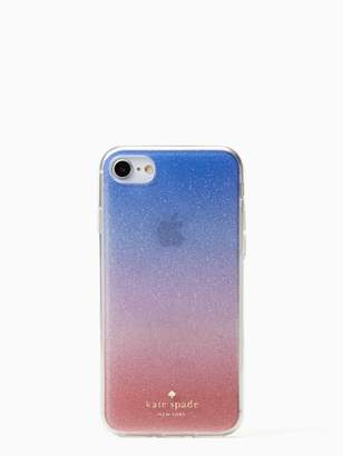 Kate Spade Sunset glitter ombre iphone case