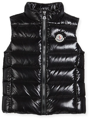 Moncler Ghany Quilted Down Vest, Size 8-14 $315 thestylecure.com