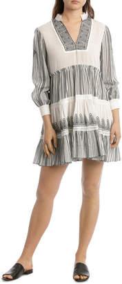 Grab Embroidered Yoke Boho Dress