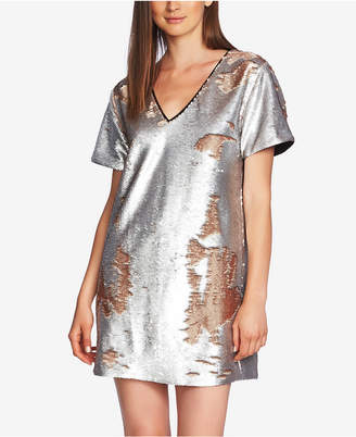 1 STATE 1.state Sequined Shift Dress