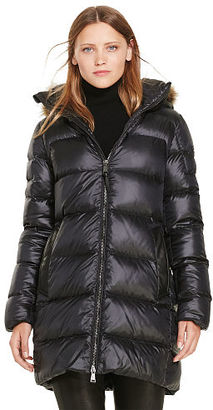 Polo Ralph Lauren Leather-Trim Down Coat $598 thestylecure.com
