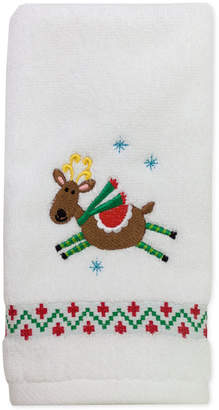 "Dena Closeout! Flying Reindeer 27"" x 50"" Bath Towel Bedding"