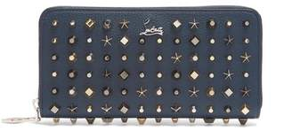Christian Louboutin Panettone Stud Embellished Leather Wallet - Mens - Navy