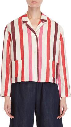 Avn Striped Pocket Jacket