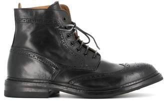 Officine Creative Brogue Detail Lace-up Boots sussex/003