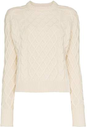 REJINA PYO wool yak-cashmere blend cable knit sweater
