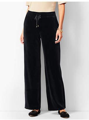 Talbots Luxe Velour Wide-Leg Pants