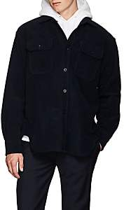 Katharine Hamnett Men's Cotton Moleskin Overshirt - Navy