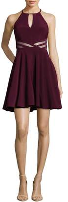 Xscape Evenings Stripe Waist Party Dress