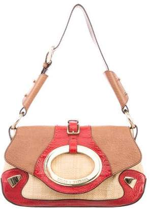 Dolce & Gabbana Straw & Leather Bag