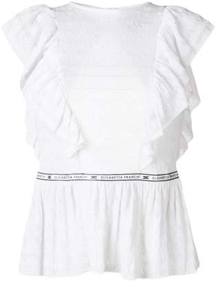 Elisabetta Franchi open back peplum blouse