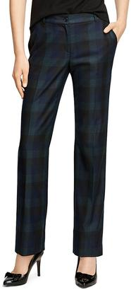 Lucia Fit Wool Plaid Trousers $298 thestylecure.com