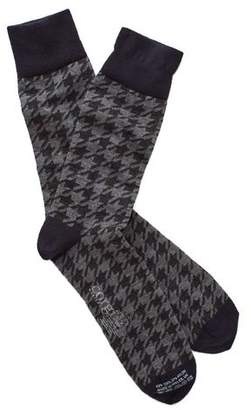 Corgi Houndstooth Socks in Grey