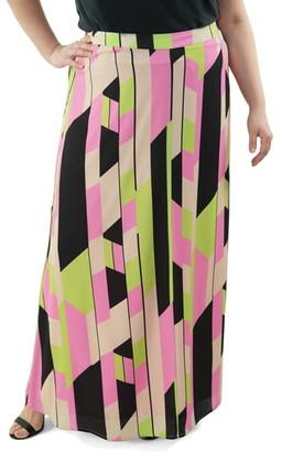 Maree Pour Toi Geometric Maxi Skirt