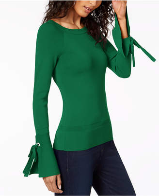 INC International Concepts I.n.c. Boat-Neck Tie-Sleeve Top, Created for Macy's