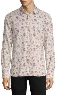 John Varvatos Reversible Printed Shirt