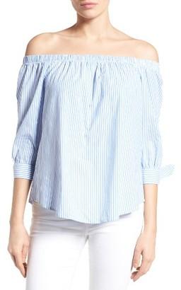Women's Bobeau Off The Shoulder Cotton Poplin Top $59 thestylecure.com