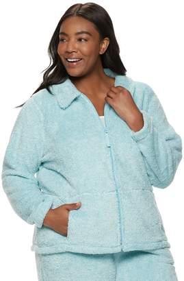 Croft & Barrow Plus Size Plush Jacket