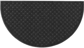 L.L. Bean L.L.Bean Heavyweight Recycled Waterhog Doormat, Crescent Locked Circles