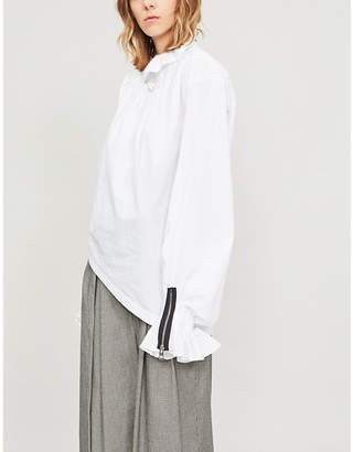 J.W.Anderson Pleated collar cotton blouse