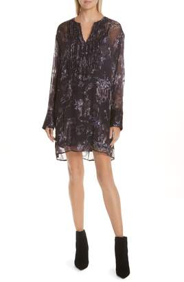 Jason Wu GREY Winter Floral Fil Coupe Dress
